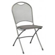 Chaise pliante calvia métal étiré