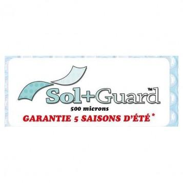 """Bache à bulles 500 Microns """"Sol + Guard"""" SUR MESURE bordée sur 4 côtés"""