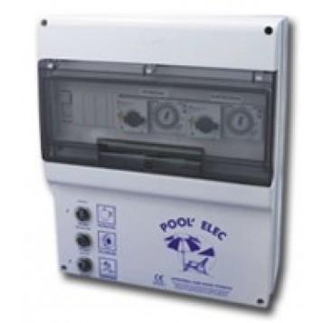 Coffret électrique Pool'Elec, Filtration + Surpresseur + 2 projecteurs