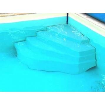 Escalier piscine d'angle Cybèle, hauteur 120cm