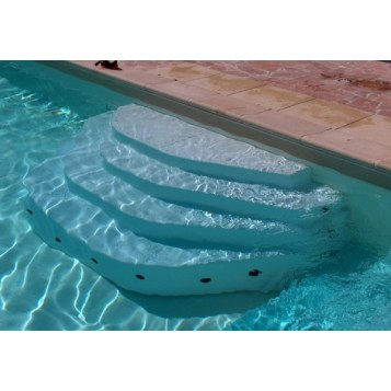 Escalier piscine Arès 2.5m, hauteur 120cm