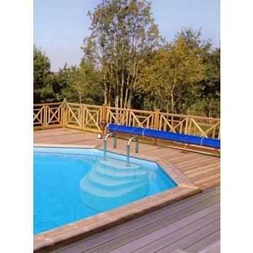 Escalier piscine Athena 1.2m, hauteur 100cm