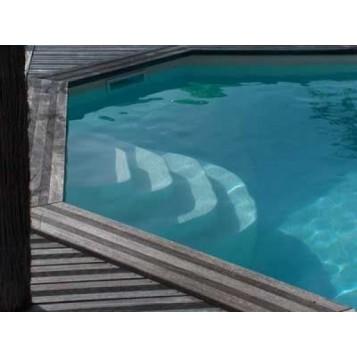 Escalier piscine Athena 1.38m, hauteur 100cm