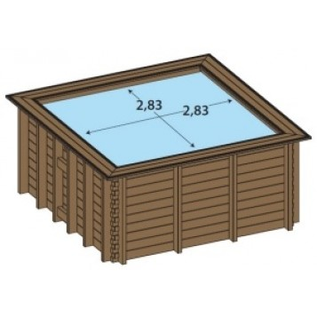 Piscine bois enterr e maeva 3x3m for Piscine 3x3