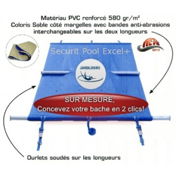 Couverture à barres Securit Pool Excel Plus SUR MESURE