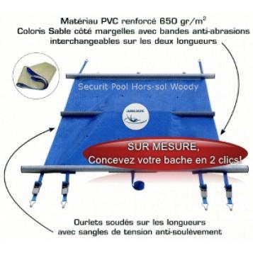 Couverture à barres Securit Pool Woody pour piscine bois hors-sol