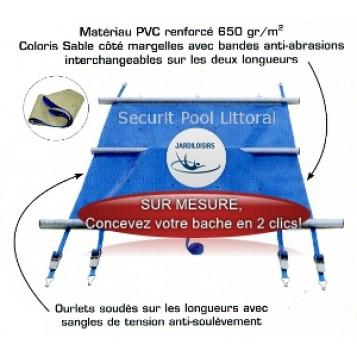 Couverture à barres APF Securit Pool Littoral SUR MESURE