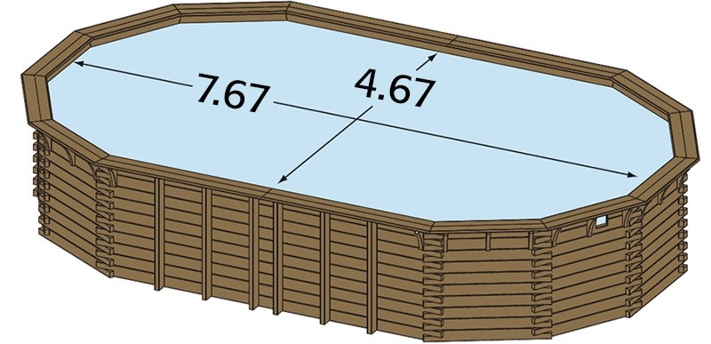 Piscine bois hors sol ma va 6 x 3m avec escalier sous liner - Piscine hors sol avec escalier interieur ...
