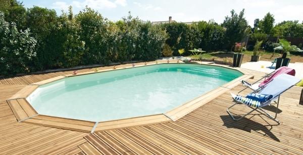 Piscine bois hors sol ma va 700 avec escalier sous liner - Escalier bois piscine hors sol ...