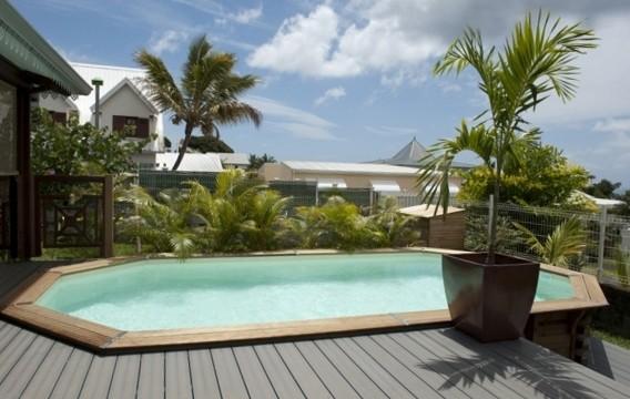 piscine bois enterr e maeva 600 avec escalier sous liner. Black Bedroom Furniture Sets. Home Design Ideas