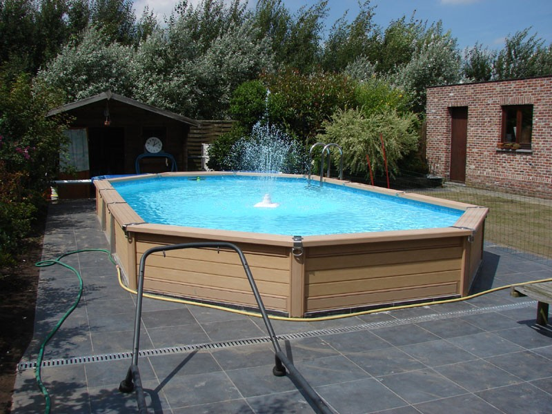 Zodiac azteck semi enterrer ovale h for Enterrer une piscine bois