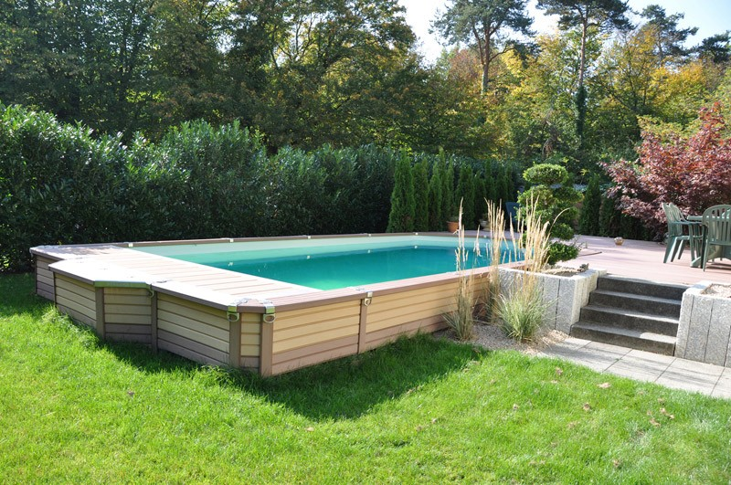 Zodiac azteck semi enterrer rectangle for Piscine 3x3