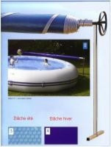Bache t 400 piscine zodiac hippo 40 for Bache piscine ete