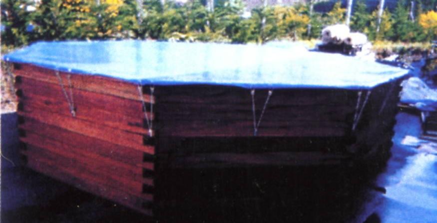 B che hiver sur mesure piscine bois hors sol - Bache hors sol jardin ...