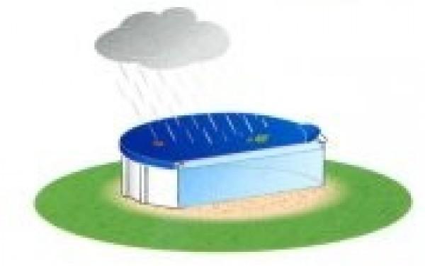 Bache hiver pour piscine hors sol bois octogonale de for Enrouleur bache piscine bois octogonale