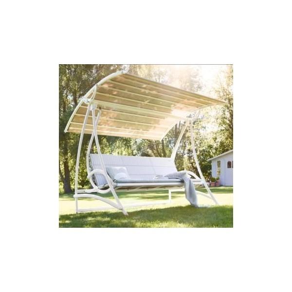 Balancelle vip 3 places avance avec toiture kettler - Balancelle jardin enfant ...