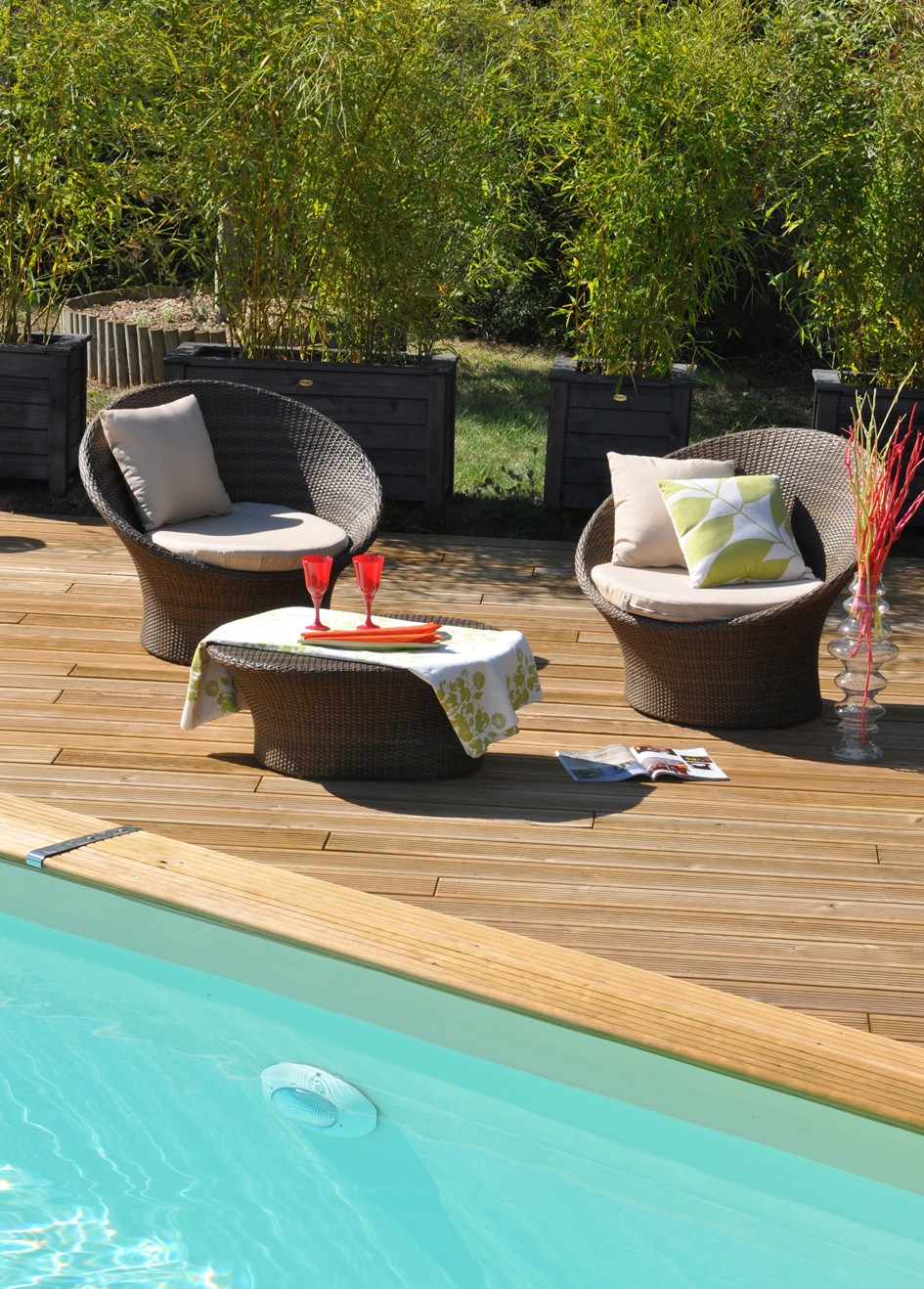 piscine bois enterr e maeva 10x5m escalier. Black Bedroom Furniture Sets. Home Design Ideas