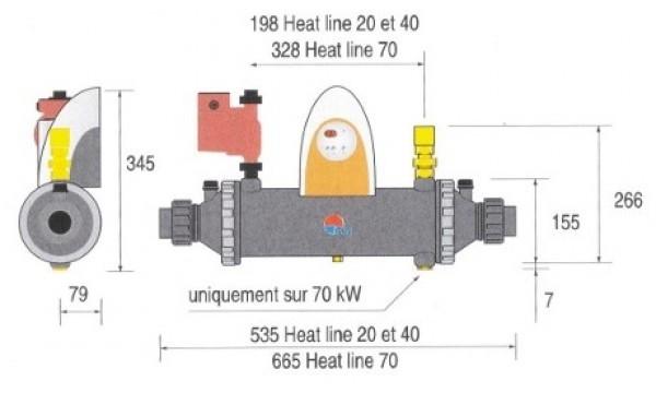 Echangeur piscine zodiac heat line plus 20 for Chauffage piscine zodiac heat line