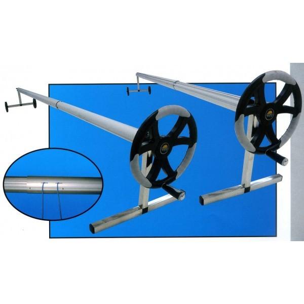 Enrouleur mobile t lescopique luxe de bache bulles 4 5m for Enrouleur bache piscine 6m