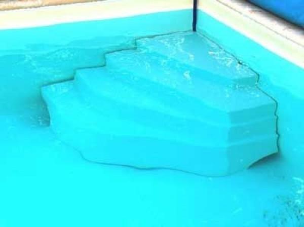 Escalier piscine d 39 angle cyb le hauteur 80cm for Escalier piscine