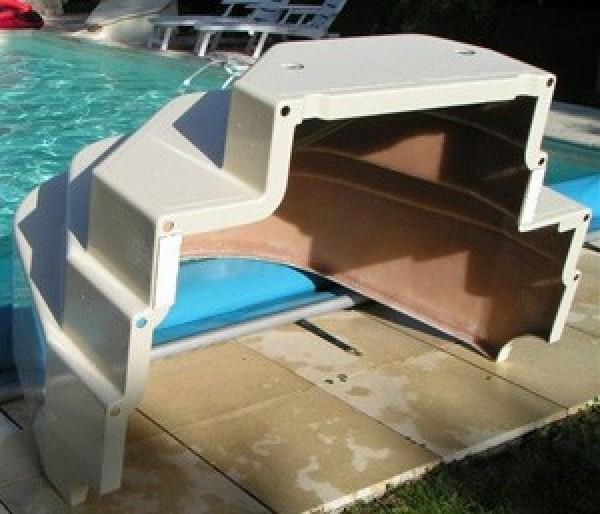 Escalier de piscine ares hauteur 120cm for Cache piscine
