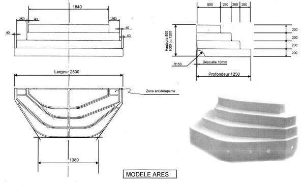Escalier De Piscine Ares M Hauteur Cm