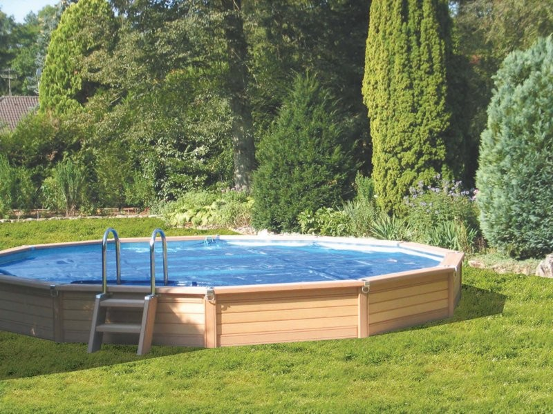 Zodiac azteck semi enterrer ronde for Piscine en bois a enterrer