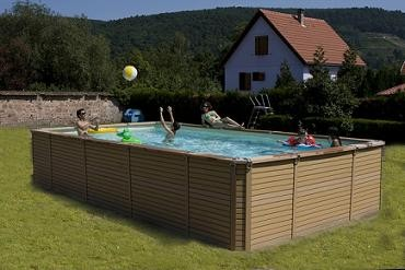 Zodiac azteck hors sol rectangle for Piscine hors sol 3x3