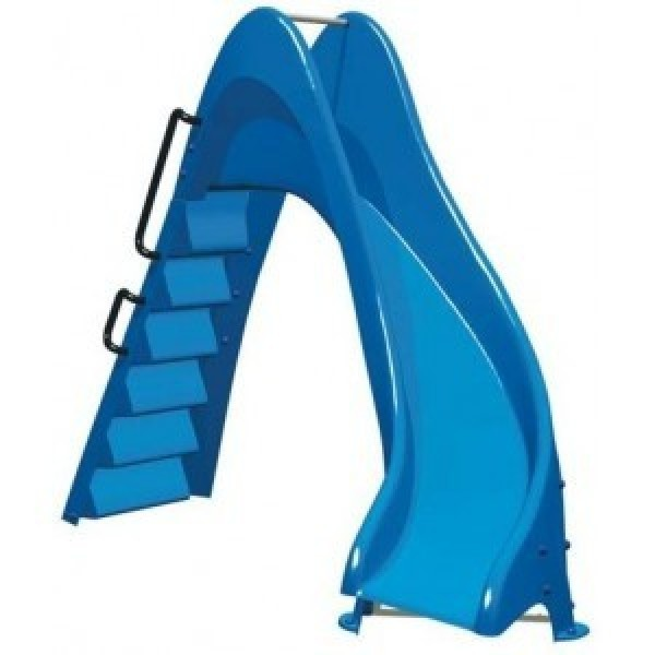 Toboggan piscine courbe for Toboggan gonflable piscine