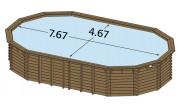 Piscine bois enterrée Maéva 800