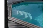 Escalier piscine Athena 1.38m, hauteur 80cm