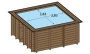 Piscine bois hors-sol carrée Maeva 3x3m