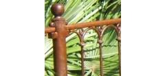 Module Provençale Deluxe complet de 55cm ente axes, avec poteau sur platine et accessoires