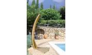 Douche solaire Teck Giordano avec socle