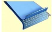 Liner piscine acier 45/100e bleu uni, overlap 5.5x3.7m