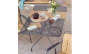 Table metal etiré carré 90x90cm Kettler