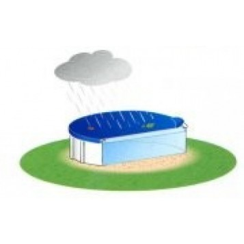 Bâche hiver piscine bois octogonale 5.6 x 3.6m, 200gr