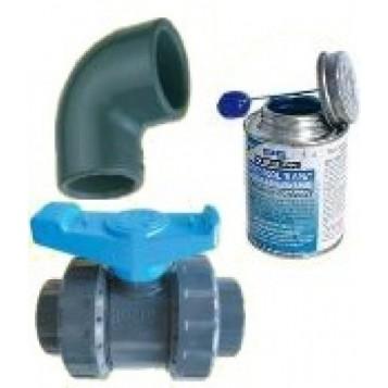 Kit by-pass piscine 63mm