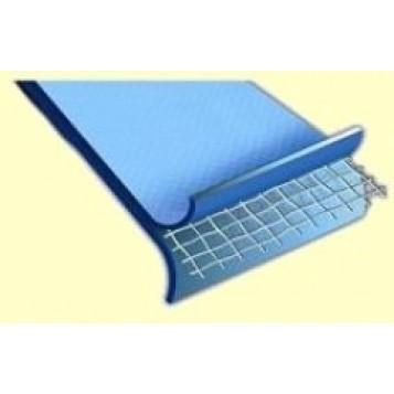 Liner piscine acier 45/100e bleu uni, overlap 7.3x3.7m