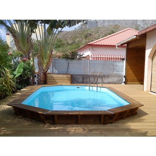 Piscine a enterrer zodiac azteck semi enterrer rectangle for Enterrer une piscine en bois