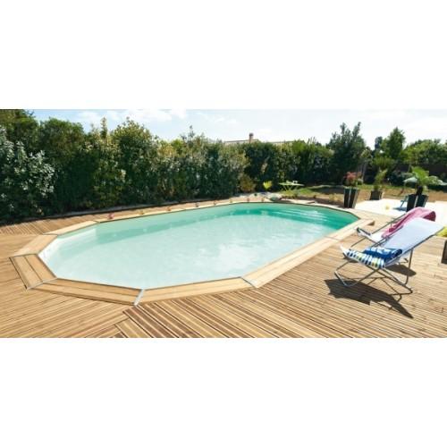 Piscine bois hors sol ma va 700 avec escalier sous liner for Liner piscine diametre 5 50