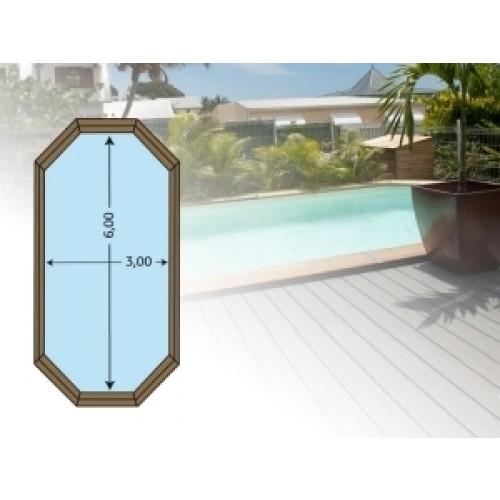piscine bois escalier sous liner