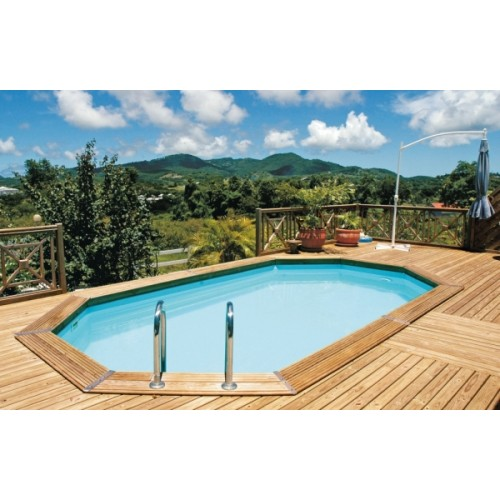 Piscine bois enterr e maeva 600 for Piscine bois 5m