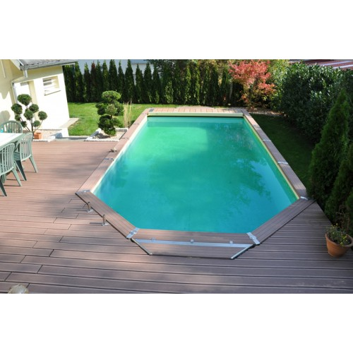 Zodiac azteck semi enterrer mixte h for Piscine bois a enterrer