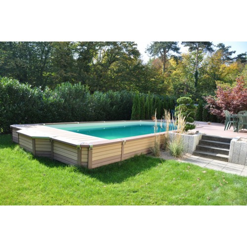 Zodiac azteck semi enterrer rectangle for Piscine bois 3x3