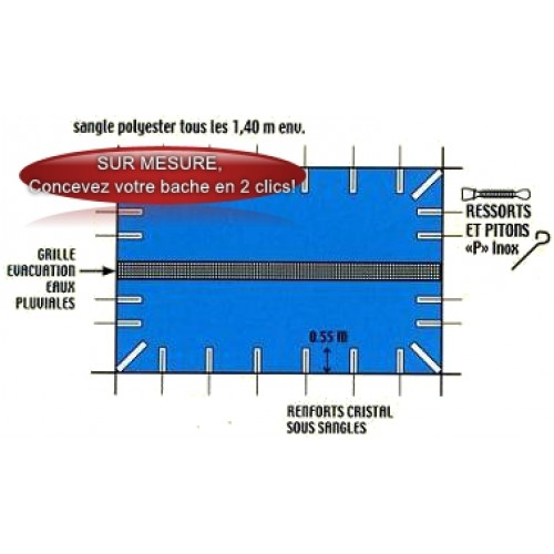 B che hiver sur mesure cos plus safe cos plus safe for Bache de piscine sur mesure