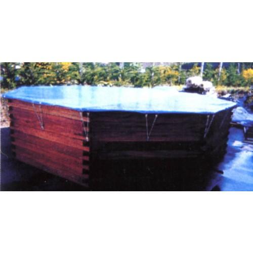 B che hiver sur mesure piscine bois hors sol hors sol for Bache sur mesure piscine
