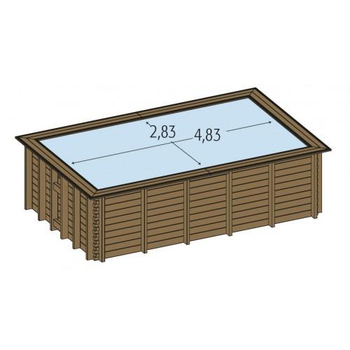 Piscine bois hors sol maeva 5x3m piscine hors sol for Piscine hors sol de qualite