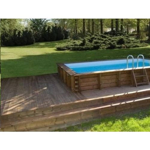 Piscine bois hors sol maeva 5x3m for Catalogue piscine bois
