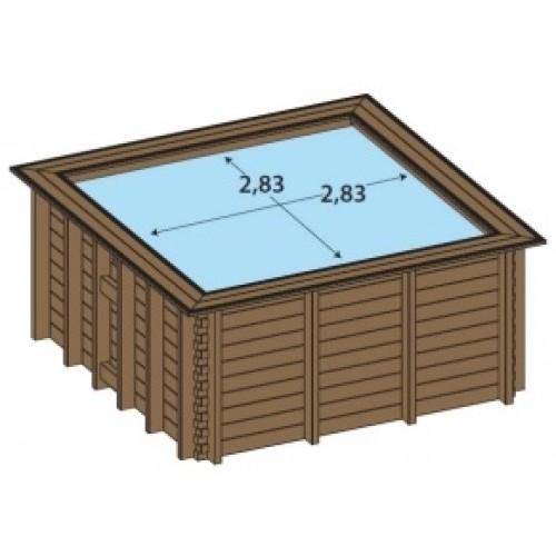 Piscine bois enterr e maeva 3x3m for Piscine carree semi enterree